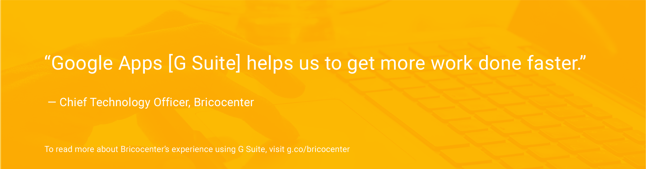 Quote image from Bricocenter's chief technology officer